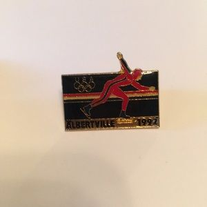 1992 Albertville Olympics USA Collectors Pin